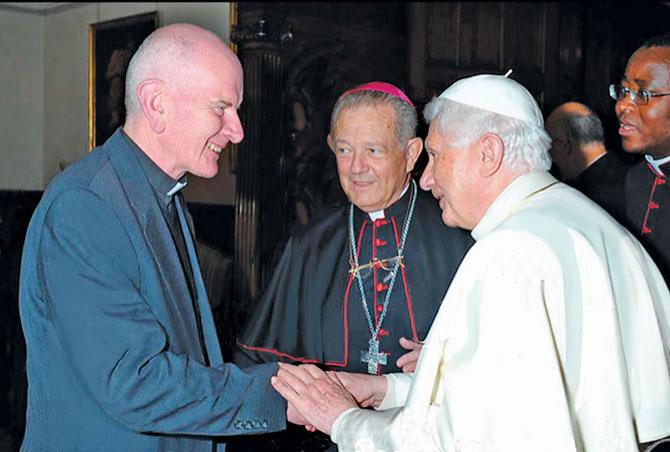 Monsignor Nicholas Rothon and Pope Benedict XVI